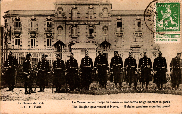 gendarmerie havre 1914 lch 1914 arm e belge belgisch leger. Black Bedroom Furniture Sets. Home Design Ideas